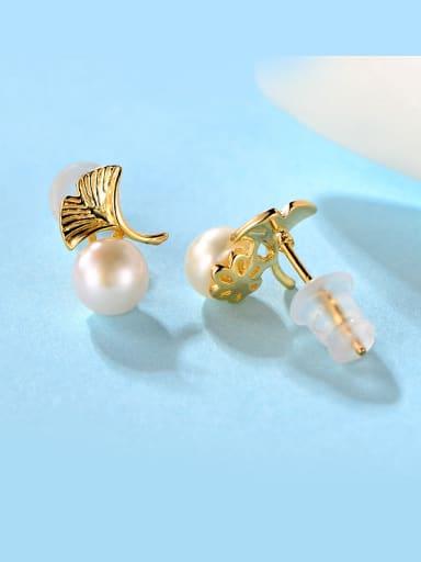 2018 S925 Silver Pearl stud Earring