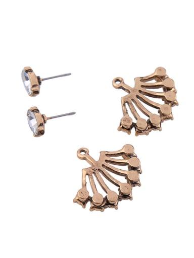 Fan-shape Separated Stud Chandelier earring