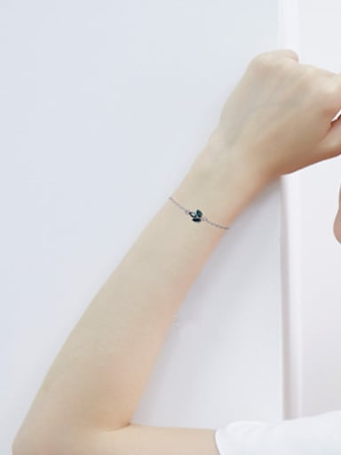 S925 Silver Leaf-shaped Bracelet