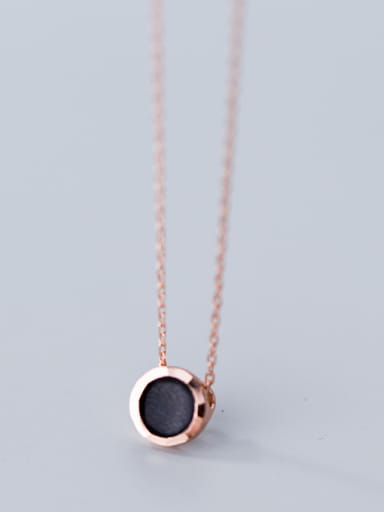925 Sterling Silver Fashion Round MINI Necklaces
