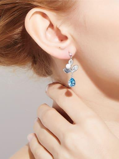 S925 Silver Crystal drop earring