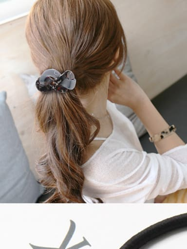 Rubber Band With Cellulose Acetate Fashion Irregular Hair Ropes