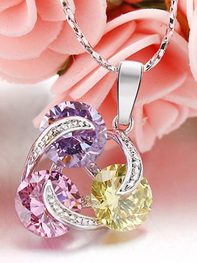 Color Stones Copper Alloy  Necklace