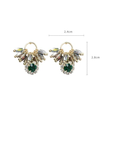 Alloy With Gold Plated Ethnic Irregular Clip On Earrings