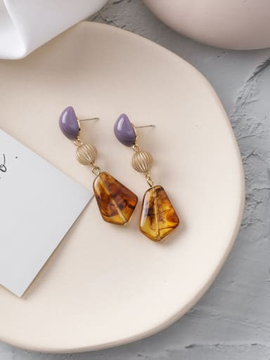 Alloy With Gold Plated Ethnic Geometric Drop Earrings