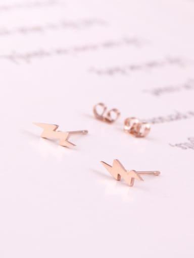 Lightning Korean Style Stud Earrings