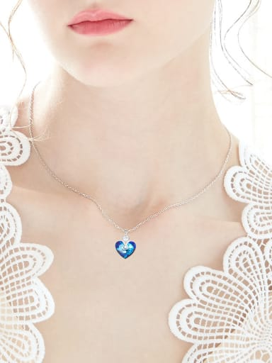 Fashion Heart Swarovski Crystal Copper Necklace