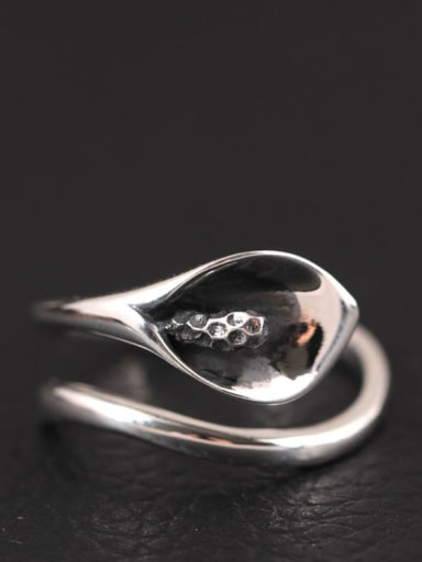 S925 Silver Common Callalily Opening Ring