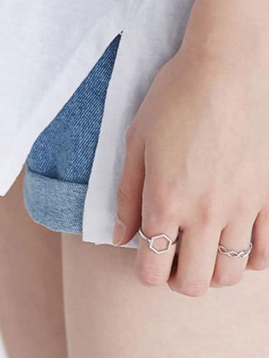 925 Sterling Silver With Silver Plated Cute Rings
