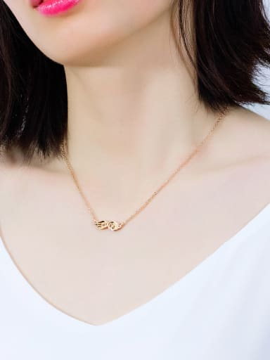 Stainless Steel With Rose Gold Plated Fashion Angel wings Necklaces