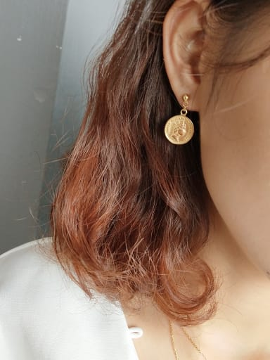 Sterling silver gold cents round coin earrings