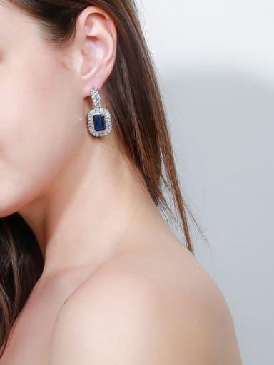 Copper inlaid AAA zircons noble luxury Earrings
