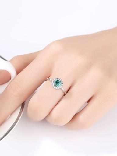 Sterling silver fashion high-end multicolor  treasure ring