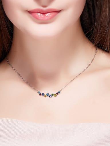 Colorful Searovski Crystals Necklace