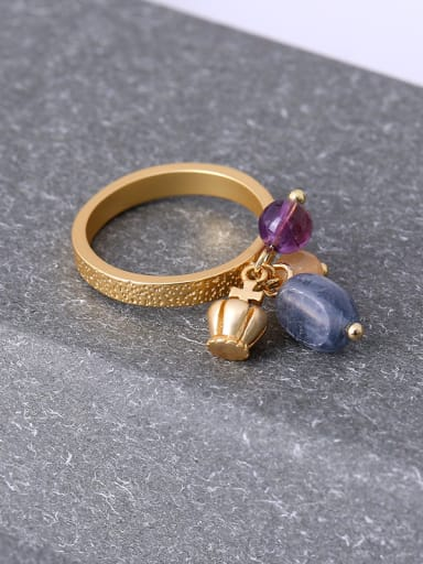 Women Exquisite Crown Shaped Gemstone Ring