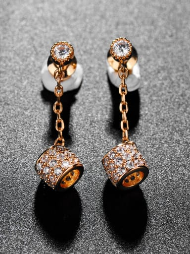 Copper With 3A cubic zirconia Trendy Camel bell Drop Earrings