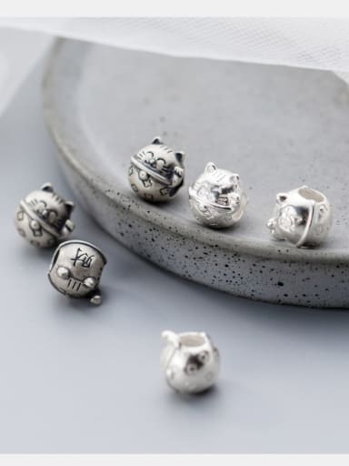 925 Sterling Silver With Silver Plated Vintage Cat Charms