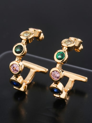 Copper With  Cubic Zirconia Fashion Round Ear clip