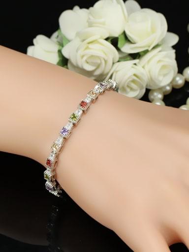Colorful AAA Zircons Fashion Copper Bracelet