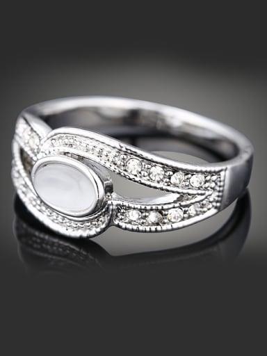 Fashion Oval Opal stone Cubic Rhinestones Alloy Ring