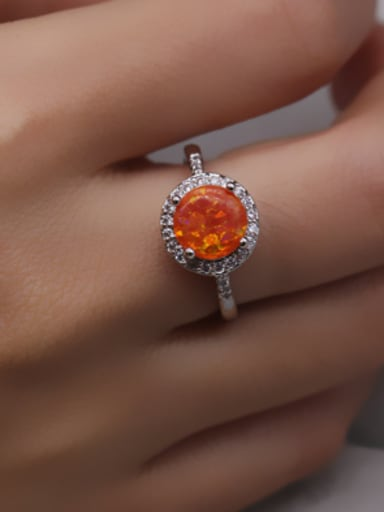 2018 2018 White Gold Plated Zircon Ring
