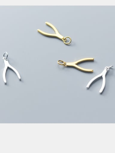 925 Sterling Silver With Silver Plated Small Fork Charms