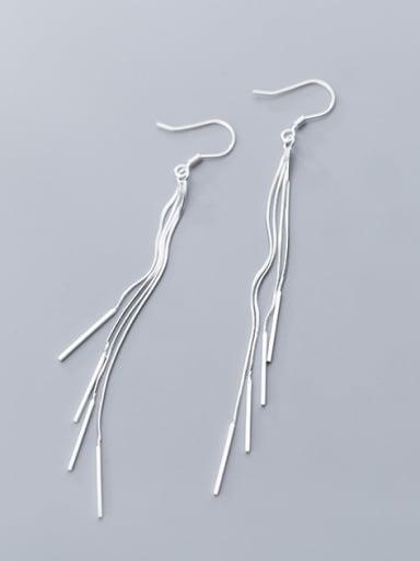 925 Sterling Silver  Bohemia Fringe Drop Earrings