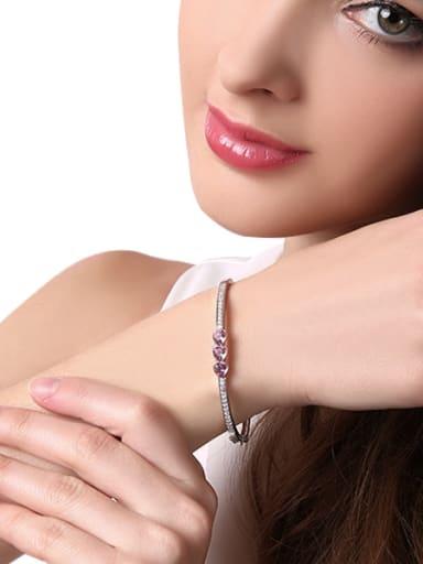 S925 Silver Heart-shaped Bracelet