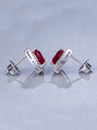Red Triangle stud Earring