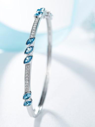 S925 Silver Crystal Bangle