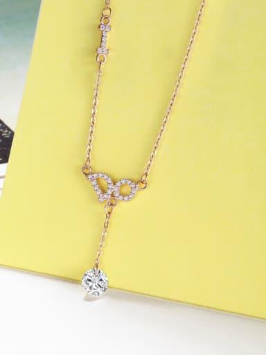 Letter Zircon Necklace