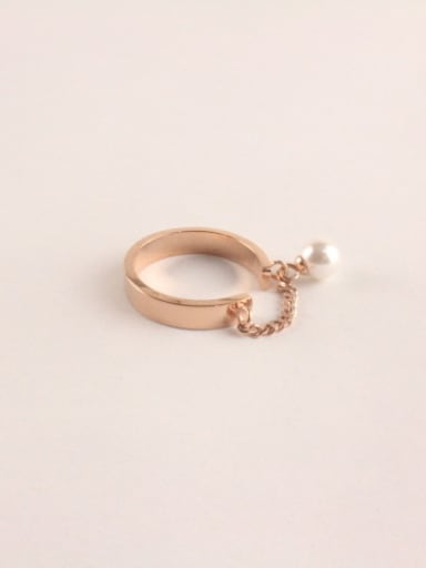 Fashion Temperament Artificial Pearls Ring