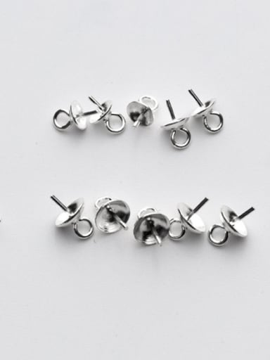 925 Sterling Silver With Silver Plated Penetration space Snap Settings