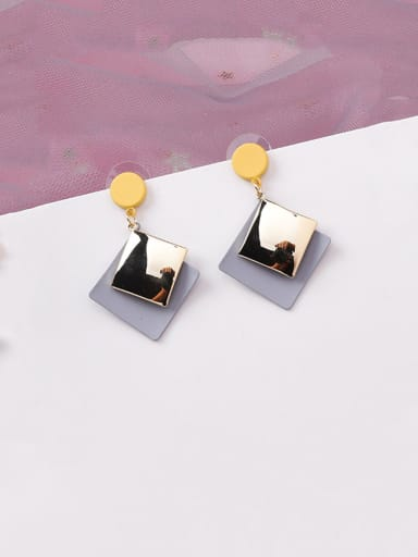 Alloy With Platinum Plated Simplistic Geometric Drop Earrings