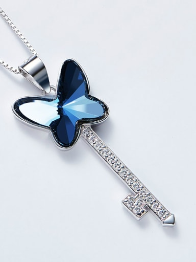 2018 S925 Silver Butterfly Shaped Necklace