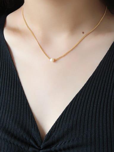 Pure silver temperamental fresh water pearl necklace