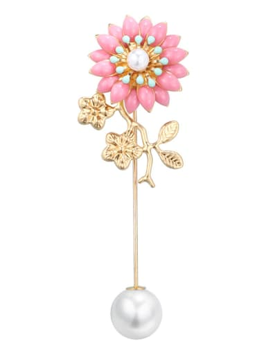 Alloy With  Enamel Romantic Flower Brooches