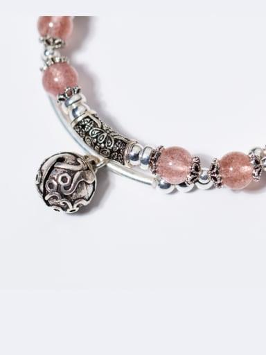 Elegant Double Layer Bell Shaped Crystal Bracelet