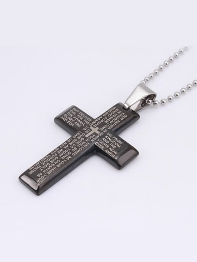 Black Cross Scriptures Necklace