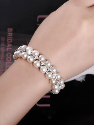 Natural Pearls Double Layer Bracelet