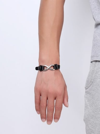 Fashion Number Eight Shaped Artificial Leather Bracelet