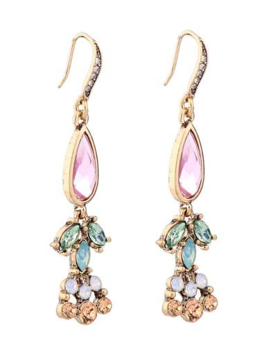 Elegant Colorful Stones Women Ear Hooks