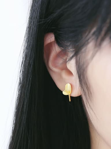 Personalized Tiny Leaves stud Earring