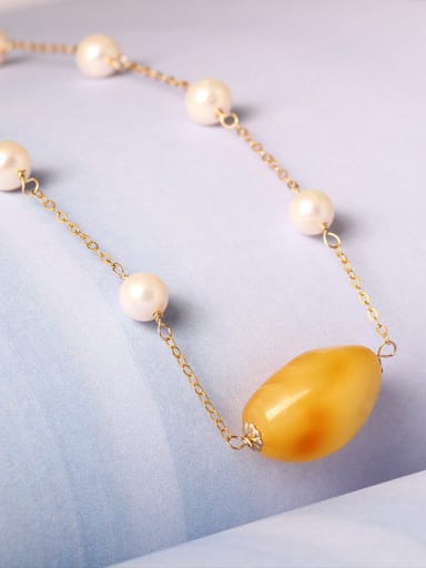 Handmade Freshwater Pearls Clavicle Necklace