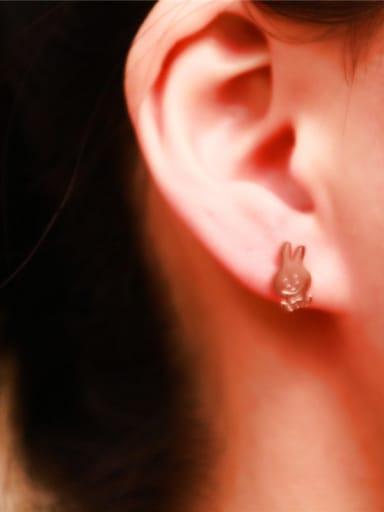 Lovely Rabbit Titanium Stud Earrings