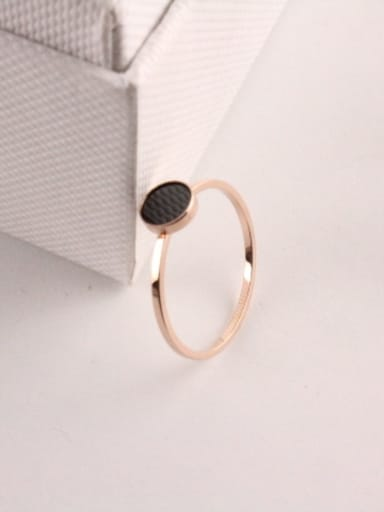 Black Agate Simple Style Ring