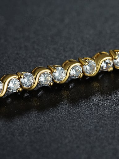 18K Gold Plated Zircon Bracelet