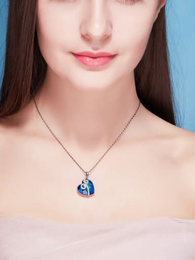 Blue Heart Shaped Necklace