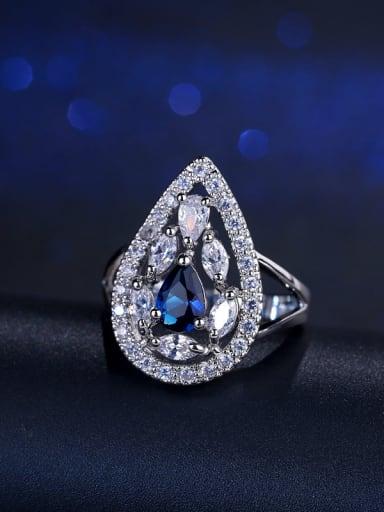 Fashion Zircons Drop Engagement Ring