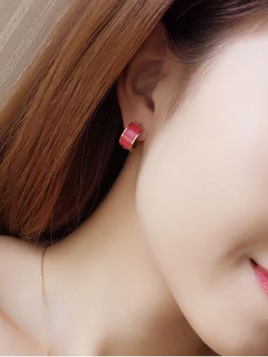 Vacuum Plating Anti-allergic Creative hoop earring
